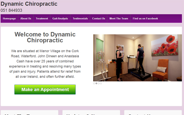 Responsive WordPress website for Dynamic Chiropractic