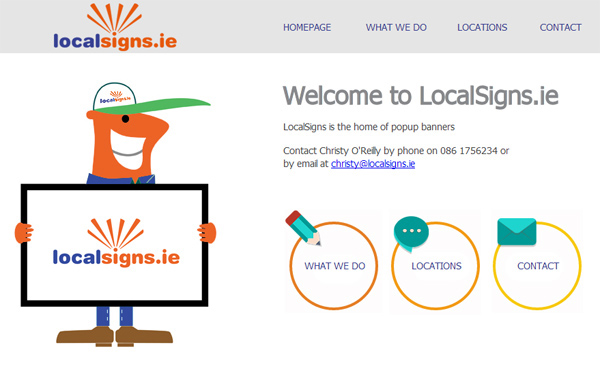 CMS for LocalSigns.ie