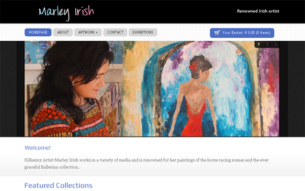 WordPress store for artist Marley Irish