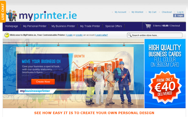 Magento CMS for MyPrinter