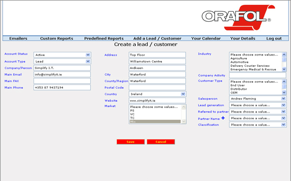 Simplify I.T. build a CRM for Orafol (Reflexite)