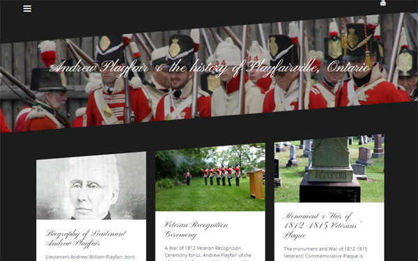 Responsive Wordpress website for historic Playfairville