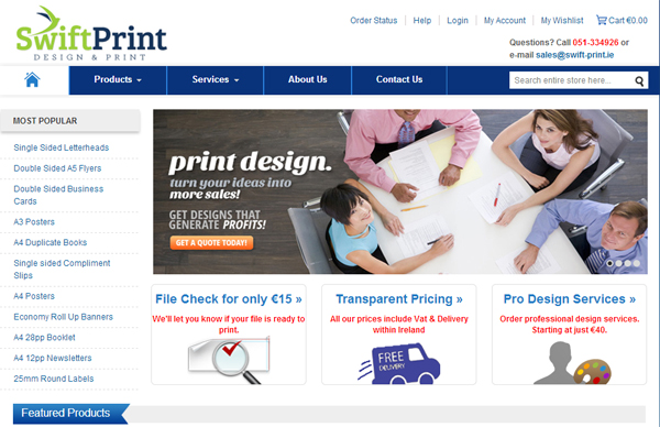 Magento CMS for Swift Print