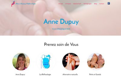 Repsonsive website for Anne Dupuy